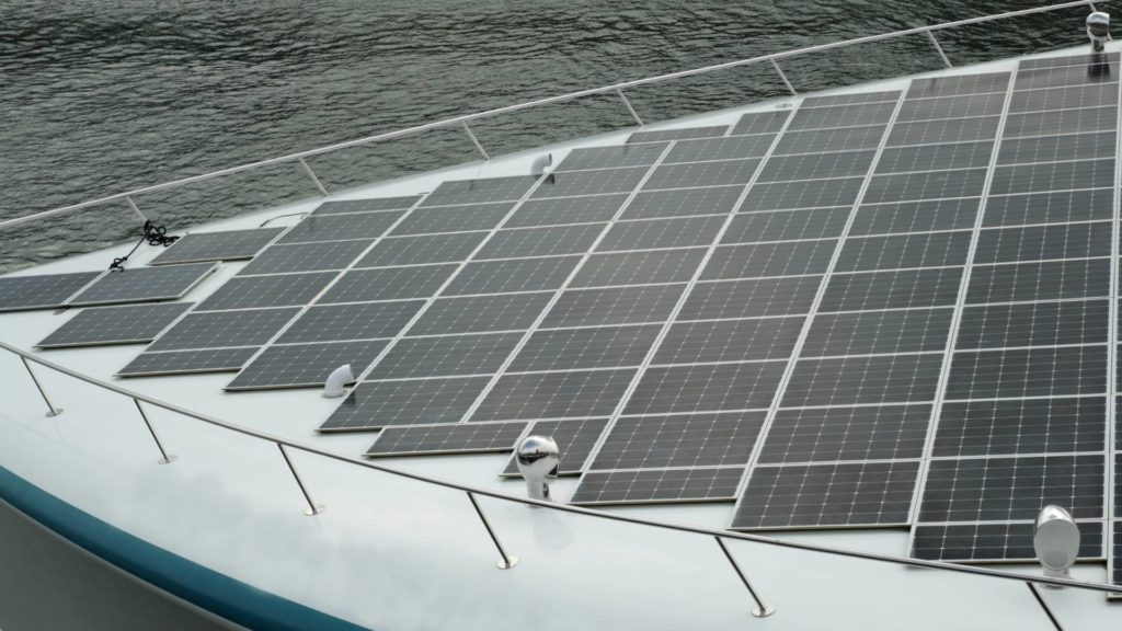 Solar Charger panel on boat